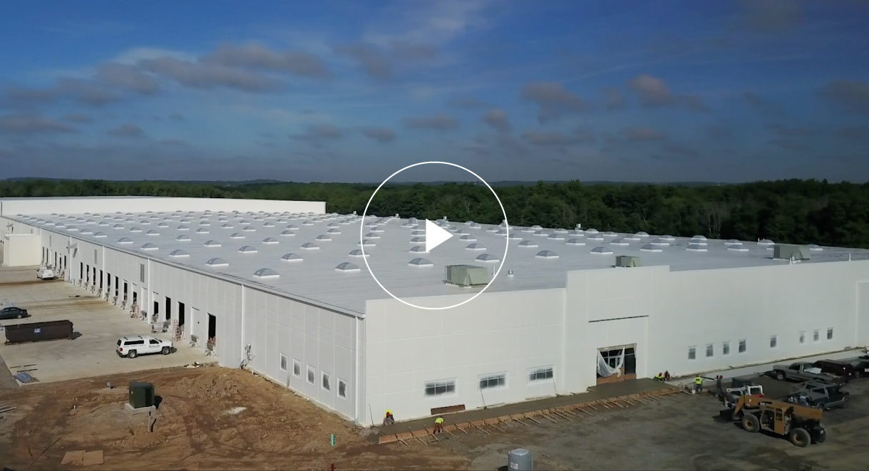 Aerial Drone Shot of Large White Building